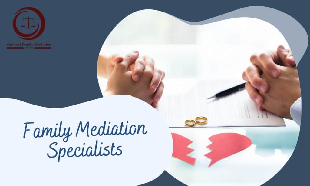 What does family mediation involve?